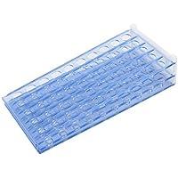 DealMux azul claro plástico desmontable 50 Agujero 15mm Centrífuga Portatubo rack