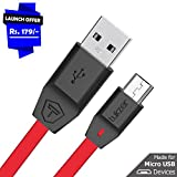 #7: Tukzer Premium Micro-USB to USB Cable V2.0 Fast Charging 2.4 Amp & Data Cable [1M/3.2ft - Red]