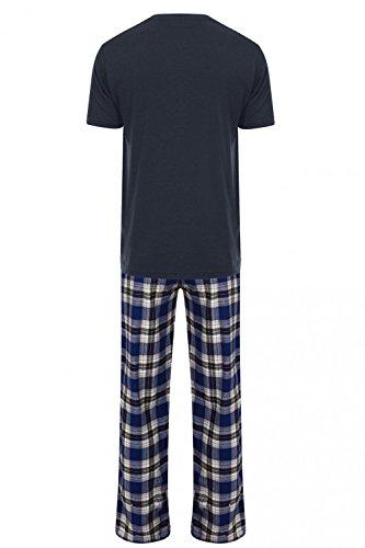 Tokyo Laundry Herren Relaxed Schlafanzug blau blau Small Cranwood - Midnight Blue