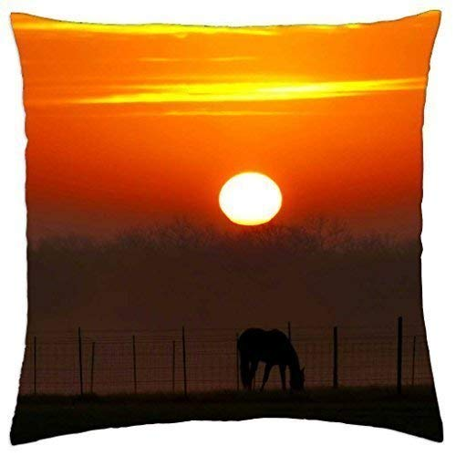 guolinadeou GRAZING at Sunset - Throw Pillow Cover Case (18