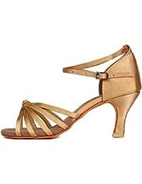 YKXLM Mujeres&Niña Zapatos Latinos de Baile Zapatillas de Baile de Salón Salsa Performance Calzado de Danza