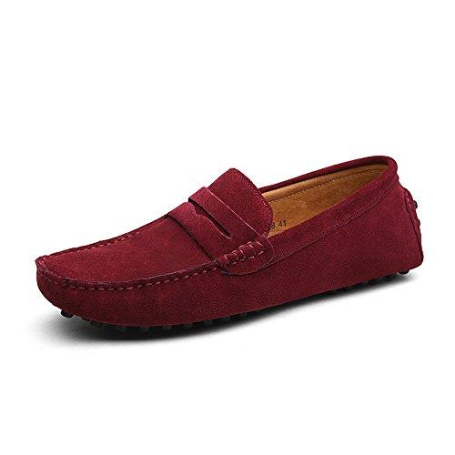 Duoro mocassini uomo classic mocassini slip on loafers, rosso (rot), 41 eu