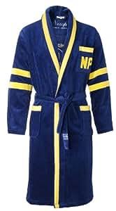 Newport 7116-0902 Rugby Ivy League Peignoir Coton Velours Bleu/Jaune XXL