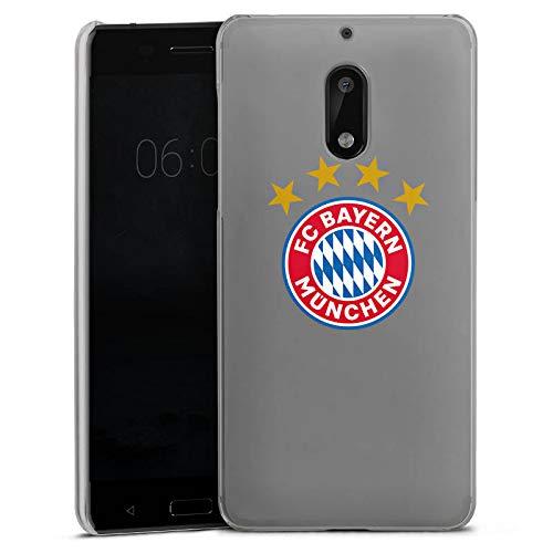 DeinDesign Nokia 6 2017 Hülle Case Handyhülle FC Bayern München 4 Sterne ohne Hintergrund