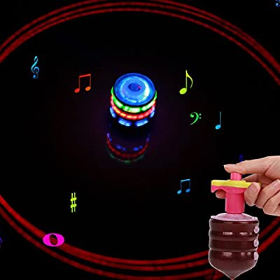 FomCcu Magic Music Spinning Tops Gyroscope with Colorful Flash Light-emitting Red Laser Line Gift for Boys Children Kids Girls