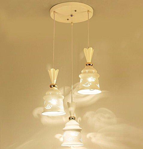 Ein-arm-laufwerk (LighSCH Kronleuchter Pendellampe Restaurant Kristall Lampe Licht im Europäischen Stil Persönlichkeit 3 arm Laufwerk 7 Wled-Lampe 30cm)