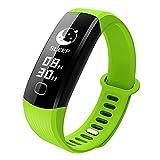 xinxinyu - Reloj de Pulsera Deportivo, Bluetooth, podómetro, Seguimiento de la frecuencia cardíaca, podómetro, Consumo de calorías, Reloj de Pulsera de Actividad, Color Verde