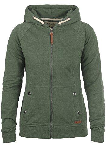 DESIRES Mandy Damen Sweatjacke Kapuzen-Jacke Zip-Hoodie aus hochwertiger Baumwollmischung, Größe:M, Farbe:Climb Ivy (8785) (Hoodie Jacke Grüner)