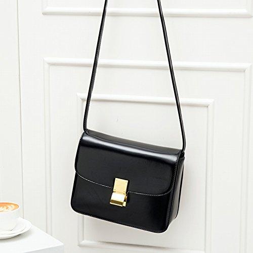 Weibliche Tasche Kuriertasche Mode Retro Tofu Tasche Einzigen Akkordeon Kleinen Quadratischen Tasche Schwarz Groß