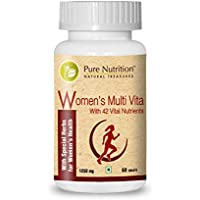 Pure Nutrition Womens Multi Vitamin with 42 Vital Nutrients 1 Cap Daily - 1250mg - 60