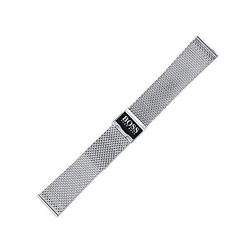 Hugo Boss Uhrenarmband 20 mm Edelstahl Silber - Uhrband 659002531