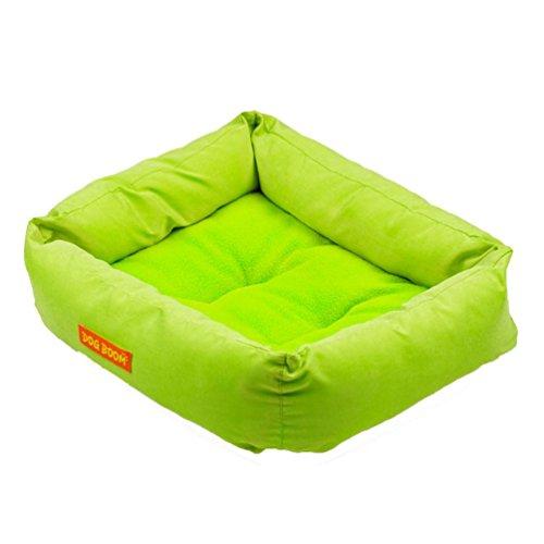 Cuccia per cane, Culater Cane Cucciolo Caldo Letto Accogliente Casa Soffice Gatto Nido Mat Pad (Verde)