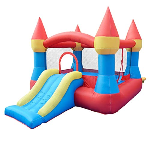 Bouncy Castles Children's Toys Large Household Toys Creative Trampoline Slide Children's Outdoor Playground (Color : Multi-colored, Size : 265 * 190 * 170cm)