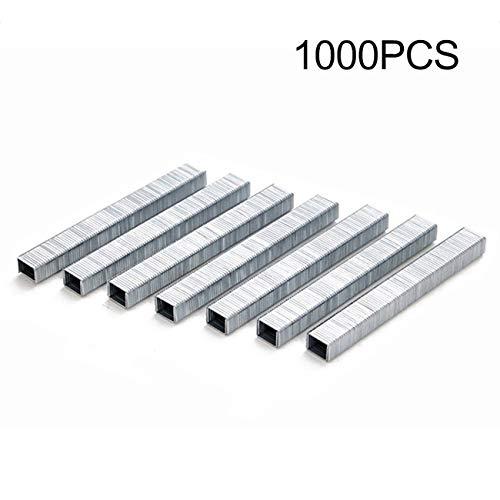 Fannty 1000 Stücke 1008J Tür Geformt Heftklammern 11,3 * 1,2 Mm Nägel Kompatibel für Tacker Hefter (Heftklammern Für Polster)