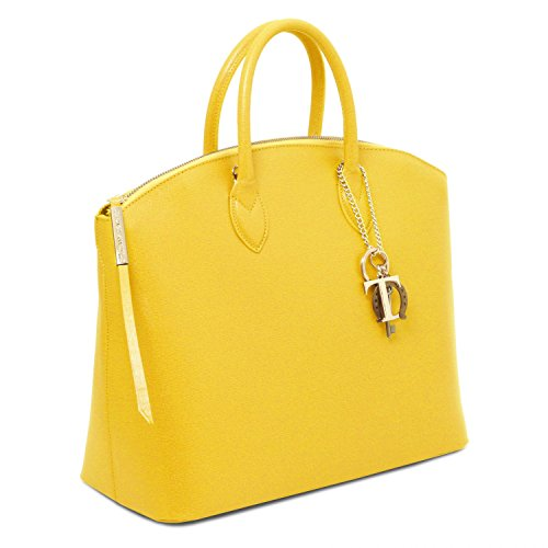 Tuscany Leather - TL KeyLuck - Borsa shopper in pelle Saffiano - TL141261 (Nude) Giallo
