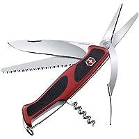 Victorinox Taschenmesser Ranger Grip 71 Gardener (7 Funktionen, Feststellklinge, Schere) rot/schwarz