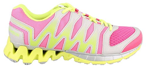 Reebok Women's Zigkick Tahoe Road II Running Shoe,Neon Pink/Neon Yellow/Silver/Black/Steel,6.5 D US Neon Pink/Neon Yellow/Silver/Black/Steel
