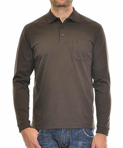 Cord Herren-shirt (Ragman Poloshirt, Purpur, XXL)