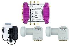 Opticum OMS 9/6 Multischalter (2x Quattro LNB, 2x Satellite, max: 6 Teilnehmer)