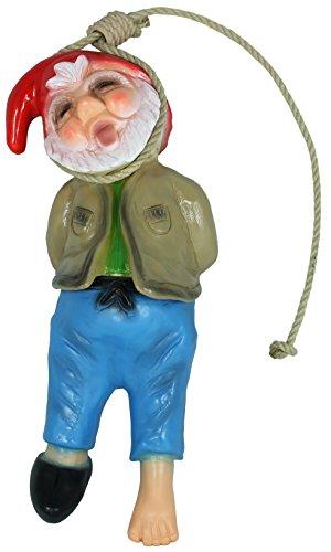 Dekofigur Gartenzwerg erhängt PVC made in Germany Gartenfigur Dekozwerg