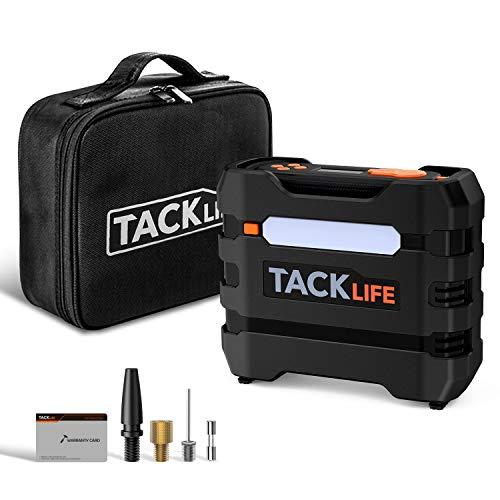 Tacklife acp1b compressore aria portatile auto 150psi, mini pompa elettrica con protezione da surriscaldamento, display lcd, porta di uscita usb - multifunzionale