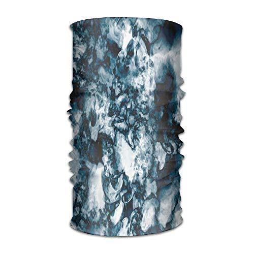 Woman Man's Turban Unusual Gemstone Onyx Rock Nature Pattern with Vintage Paintbrush Campus Kerchief Flex Neck Light