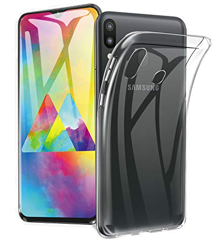 A-VIDET Hülle für Samsung Galaxy M20 Ultra Dünn Durchsichtige Handyhülle Soft Flex Silikon TPU Case Cover für Samsung Galaxy M20 - Transparent