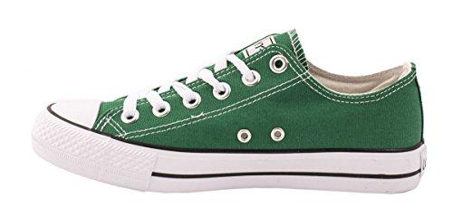 Elara Unisex Sneaker | Bequeme Sportschuhe für Herren und Damen | Low top Turnschuh Textil Schuhe 36-46 Grün