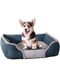 iBàste Cama para Sofa Perro Colchón para Mascotas Lavable con Almohadas De Felpa Cesta Rectangular para