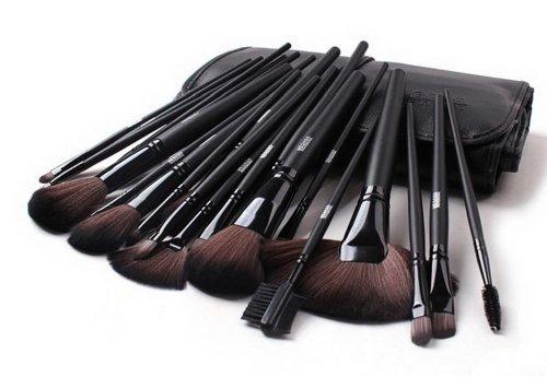 Ensemble de 24 professionnel pinceau maquillage / accessoires maquillage, noir