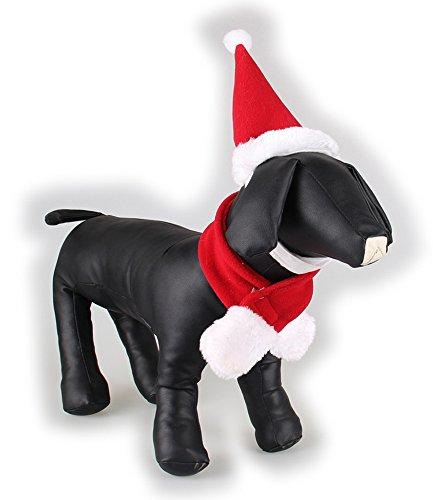 Pet Katze Hund Weihnachten Kostüm Hüte Cape Schal Anzug Warm Winter Hat für Hund Pet Santa Claus Kostüm Hat Pflege Zubehör (Bunny Trim)