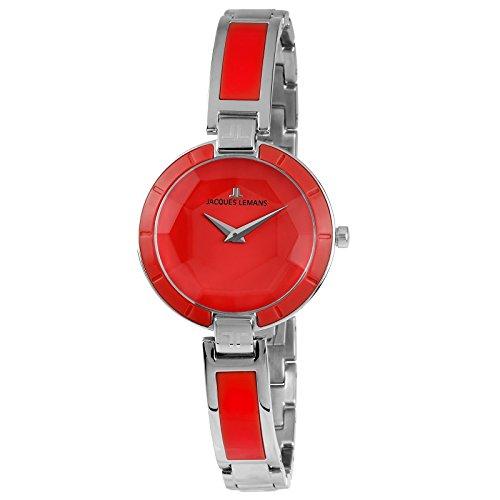Jacques Lemans Damen-Armbanduhr XS Vedette Analog verschiedene Materialien 1-1613D