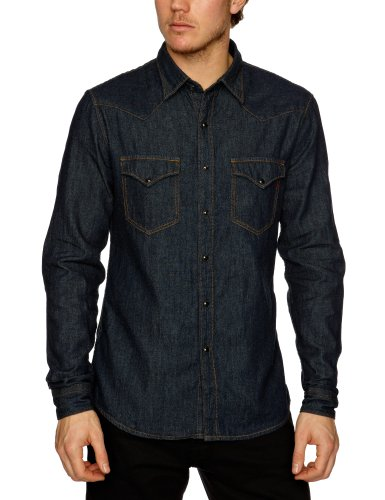 Replay - Chemise Casual - Homme Bleu (7)