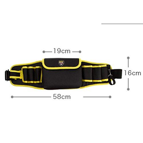 Heheja Multifunktions Werkzeugtaschen Elektriker-Taillenbeutel Hardware-Wartungspaket Als Bild