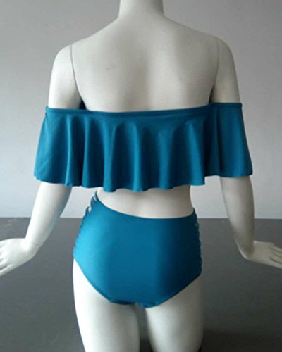 Donne Estate Beachwear Push Up Costumi Da Bagno Swimwear Bikini Set Blu Zaffiro