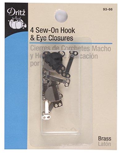 1/2 Zoll Rock (Dritz 193 Rock 1/2 Zoll (12) Haken & Ösenverschlüsse Sew-On Hook & Eye Closures Black & Nickel)