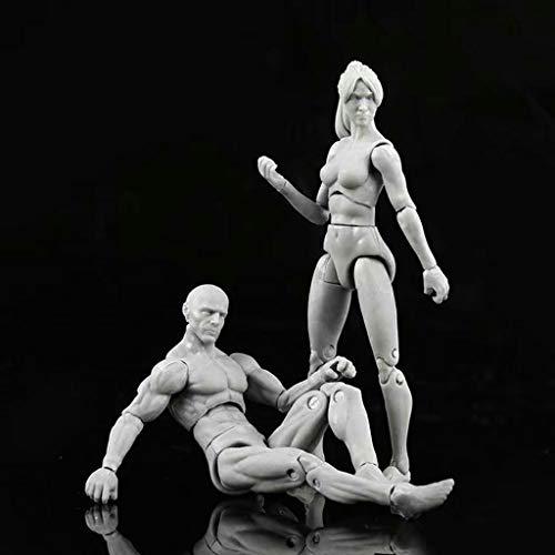 ToDIDAF CH003 Zeichnen von Figuren für Künstler-Action, Figuren-Modell-Set, menschliches Schaufensterpuppen-, Mann- und Frauenset, Minispielzeug, Raum- / Tischdekoration (B)