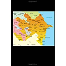 Map of Azerbaijan Journal: 150 page lined notebook/diary