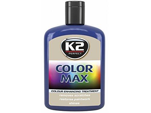 1 Stück Farbwachs K2 COLOR MAX 200ml Blau Autowachs Farbpolitur Wachspolitur Carnauba zum Ausbessern Lack Pflege Politur Neu
