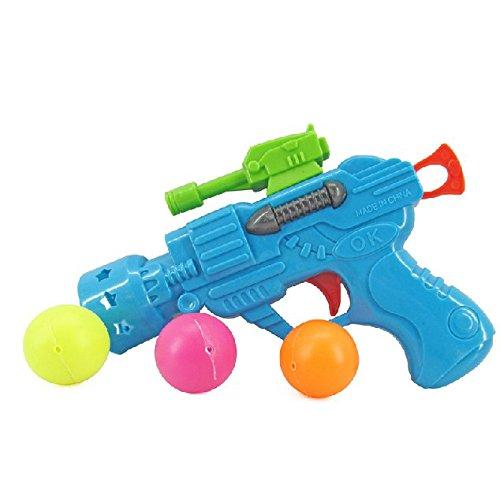 TOOGOO(R) Farbe Sortiert Tischtennisbaelle Gruen Kunststoff Pistole Spielzeug fuer Kinder
