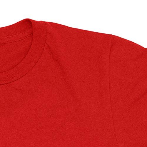 Herren-T-shirt Linkin Park - New Logo Black Print rock 100% baumwolle LaMAGLIERIA Rot