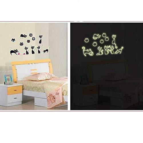 ufengke Stickers Muraux Lumineux Dinosaures Vinyle Amovible Fluorescent Plinthe Autocollants Adh/ésif D/écoration Murale pour Chambre Enfant Salon 9 Pi/èces