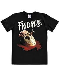 T-shirt Vendredi 13 masque de Jason haute qualité coton noir