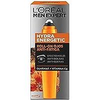L'Oréal Paris Men Expert Hydra Energetic - Roll-on de Ojos Efecto Hielo, Anti Bolsas y Ojeras - 10 ml