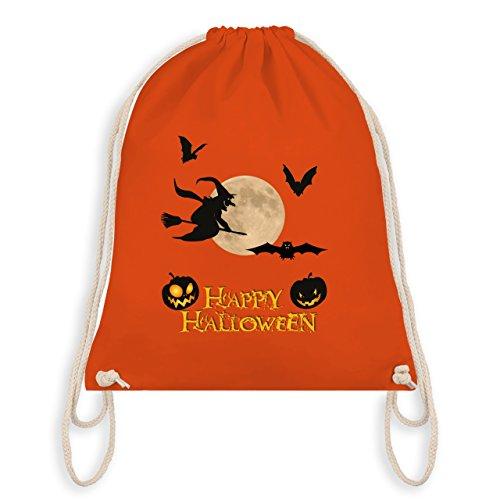 (Halloween - Happy Halloween Mond Hexe - Unisize - Orange - WM110 - Turnbeutel & Gym Bag)