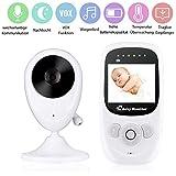 wei/ß Video Babyphone mit Kamera Nachtsicht iBaby M6S 1080P Baby Kamera 2-Wege Audio Musik-Player Nachtlicht und Luftsensoren Baby Weinen Erkennung
