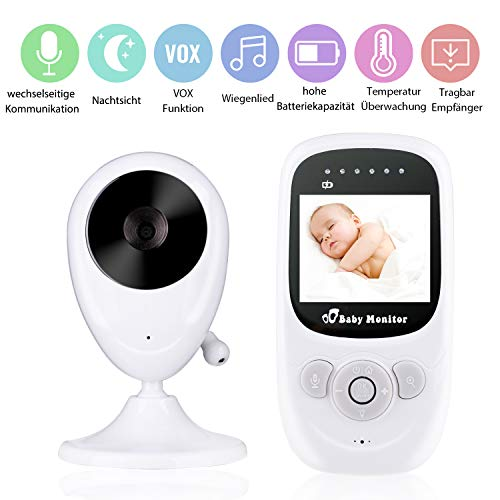 , Deyace Wireless Video Baby Monitor mit Digitalkamera, Nachtsicht Temperaturüberwachung & 2 Way Talkback System Babyfon (Clear) ()