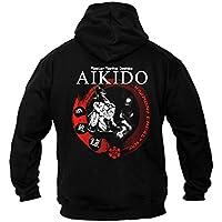 Dirty Ray Artes Marciales Aikido sudadera hombre con capucha BDT20 (L)