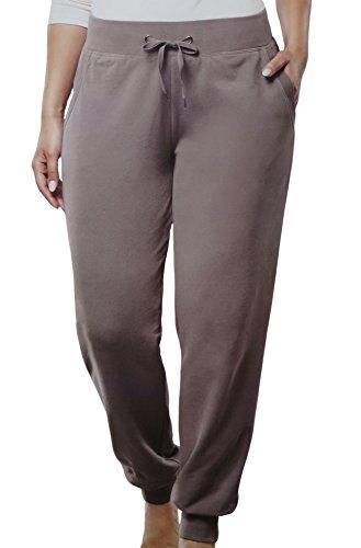 Damen Wellnesshose Jogginghose Wellness Freizeit Sport Hose große Mode 4 Modelle, Größe:44/46, Farbe:Taupe