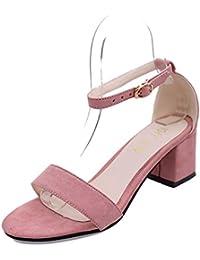Dony Rudos con sandalias, el resorte nuevo estilo, alta calidad suede zapatos cómodos, sandalias de tacón mediano...